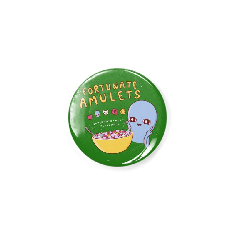 STRANGE PLANET SPECIAL PRODUCT: FORTUNATE AMULETS - GREEN Accessories Button by Nathan W Pyle