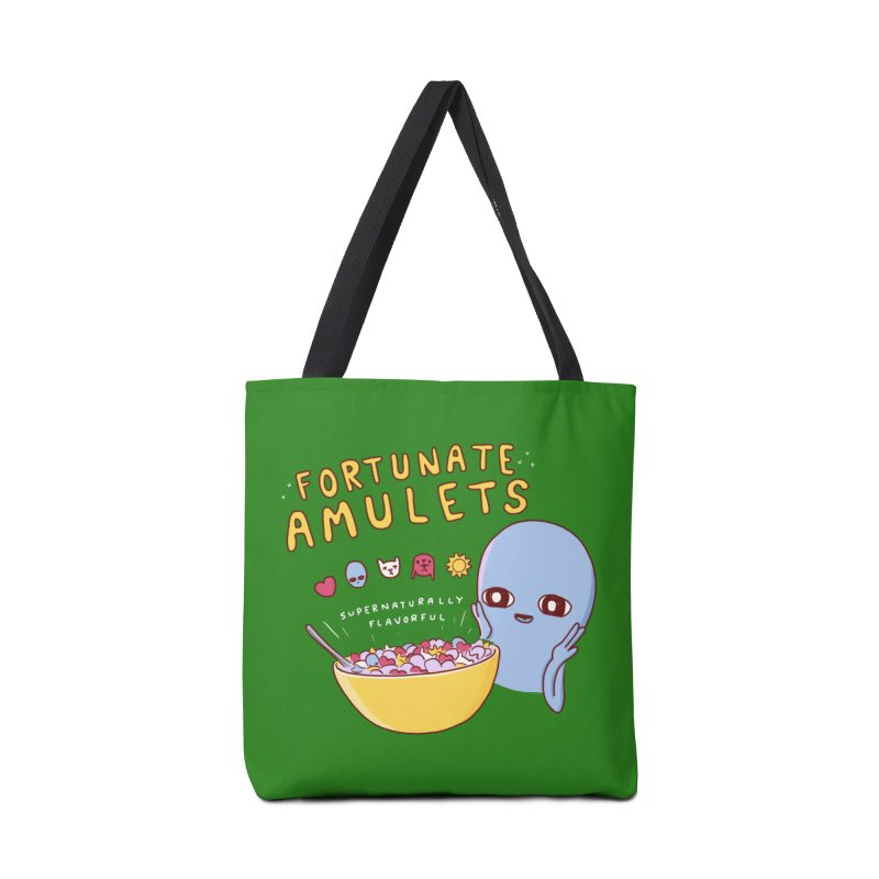 STRANGE PLANET SPECIAL PRODUCT: FORTUNATE AMULETS - GREEN Accessories Tote Bag Bag by Nathan W Pyle