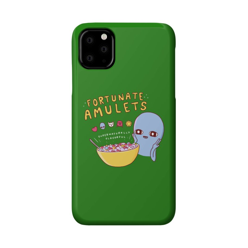 STRANGE PLANET SPECIAL PRODUCT: FORTUNATE AMULETS - GREEN Accessories Phone Case by Nathan W Pyle
