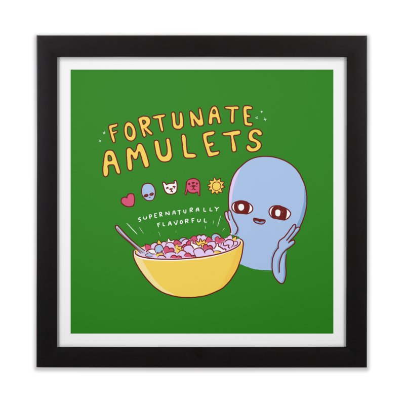 STRANGE PLANET SPECIAL PRODUCT: FORTUNATE AMULETS - GREEN Home Framed Fine Art Print by Nathan W Pyle