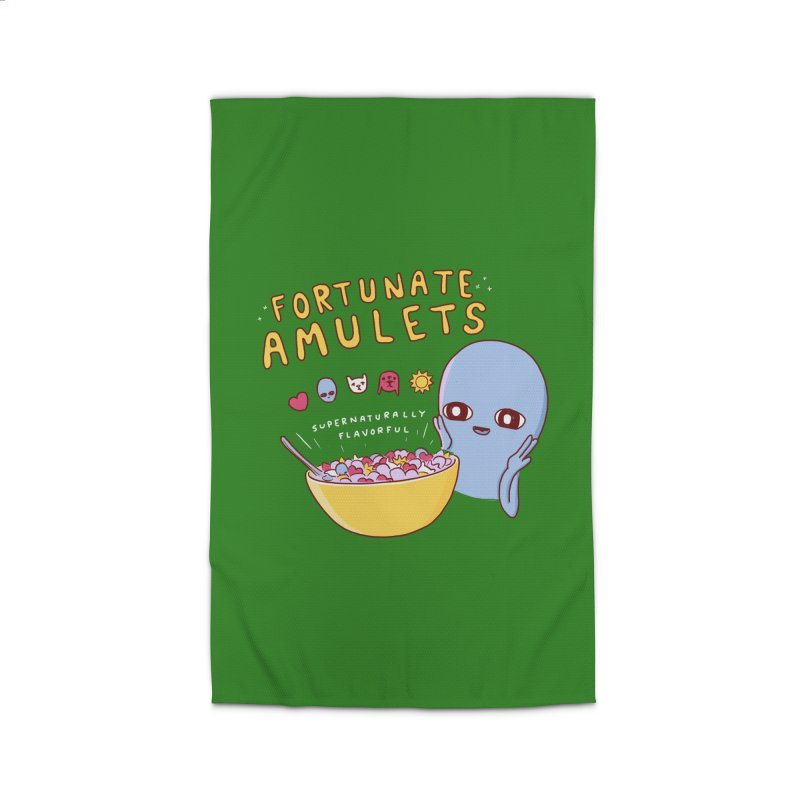 STRANGE PLANET SPECIAL PRODUCT: FORTUNATE AMULETS - GREEN Home Rug by Nathan W Pyle