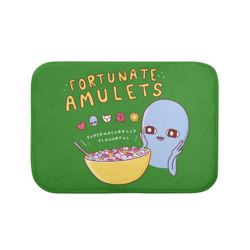 STRANGE PLANET SPECIAL PRODUCT: FORTUNATE AMULETS - GREEN Home Bath Mat by Nathan W Pyle