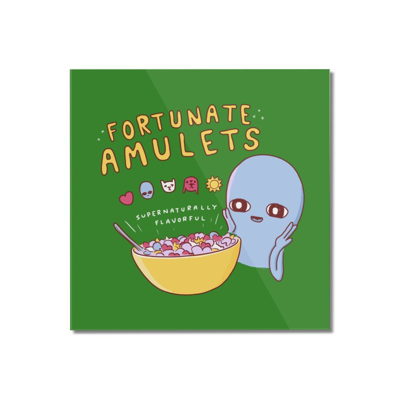 STRANGE PLANET SPECIAL PRODUCT: FORTUNATE AMULETS - GREEN Home Mounted Acrylic Print by Nathan W Pyle