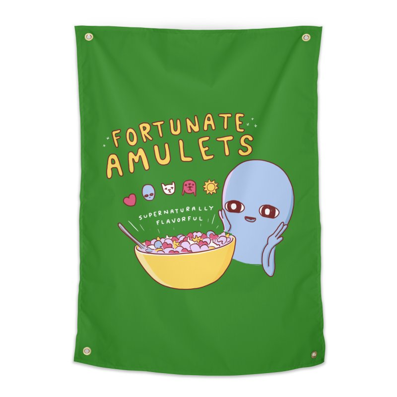 STRANGE PLANET SPECIAL PRODUCT: FORTUNATE AMULETS - GREEN Home Tapestry by Nathan W Pyle