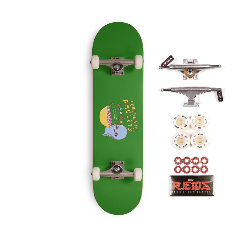 STRANGE PLANET SPECIAL PRODUCT: FORTUNATE AMULETS - GREEN Accessories Complete - Pro Skateboard by Nathan W Pyle