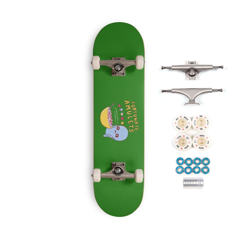 STRANGE PLANET SPECIAL PRODUCT: FORTUNATE AMULETS - GREEN Accessories Complete - Premium Skateboard by Nathan W Pyle
