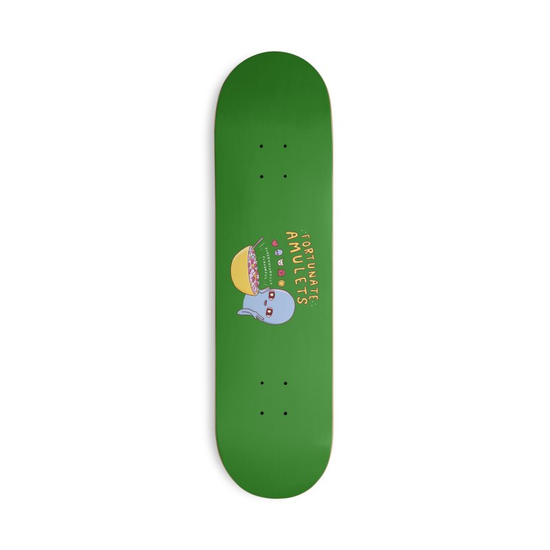 STRANGE PLANET SPECIAL PRODUCT: FORTUNATE AMULETS - GREEN Accessories Deck Only Skateboard by Nathan W Pyle