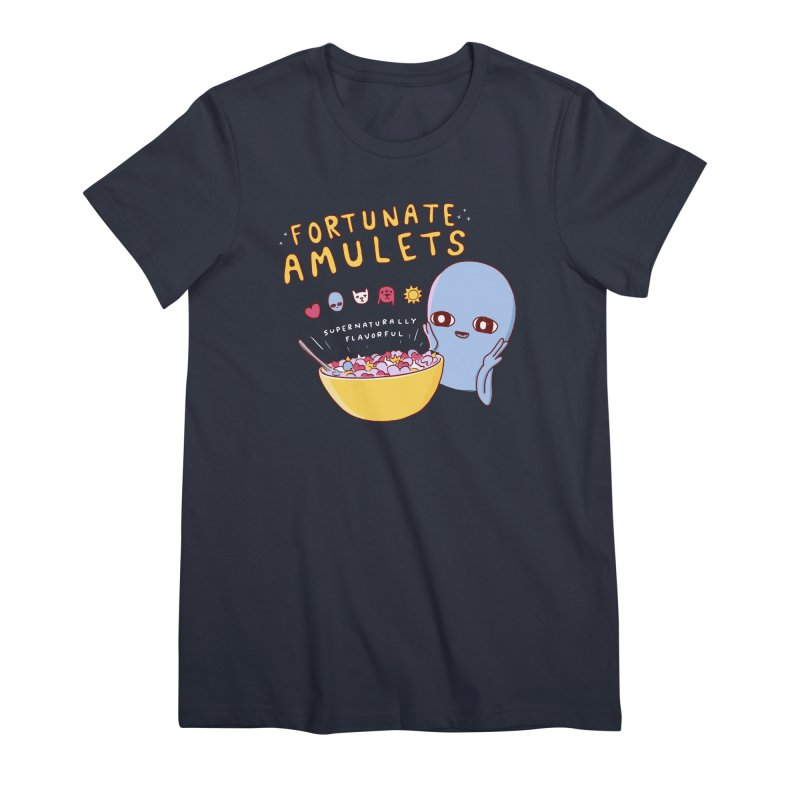 STRANGE PLANET SPECIAL PRODUCT: FORTUNATE AMULETS - GREEN Women's Premium T-Shirt by Nathan W Pyle
