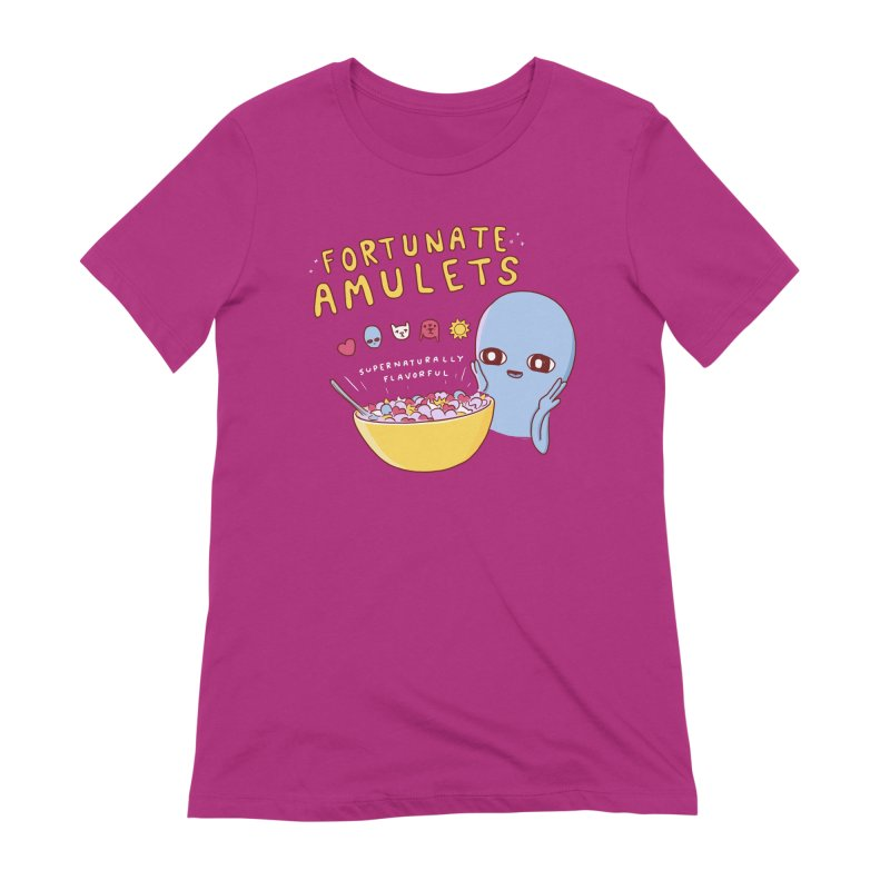 STRANGE PLANET SPECIAL PRODUCT: FORTUNATE AMULETS - GREEN Women's Extra Soft T-Shirt by Nathan W Pyle
