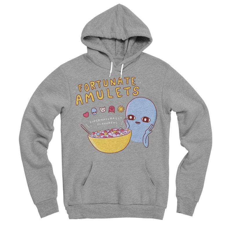 STRANGE PLANET SPECIAL PRODUCT: FORTUNATE AMULETS - GREEN Women's Sponge Fleece Pullover Hoody by Nathan W Pyle