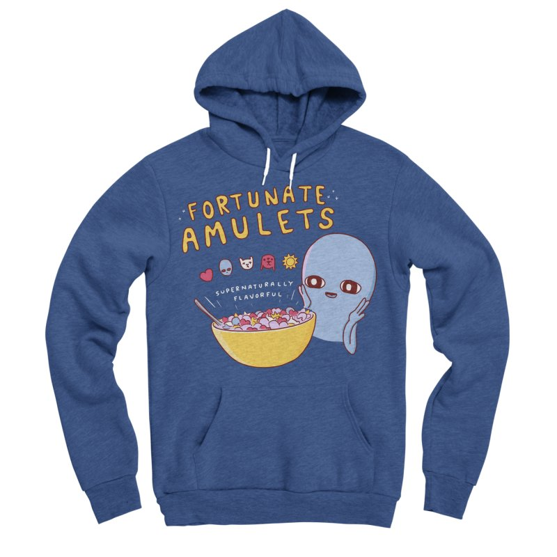 STRANGE PLANET SPECIAL PRODUCT: FORTUNATE AMULETS - GREEN Men's Sponge Fleece Pullover Hoody by Nathan W Pyle