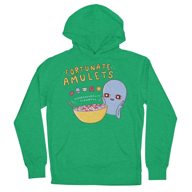 STRANGE PLANET SPECIAL PRODUCT: FORTUNATE AMULETS - GREEN Women's French Terry Pullover Hoody by Nathan W Pyle