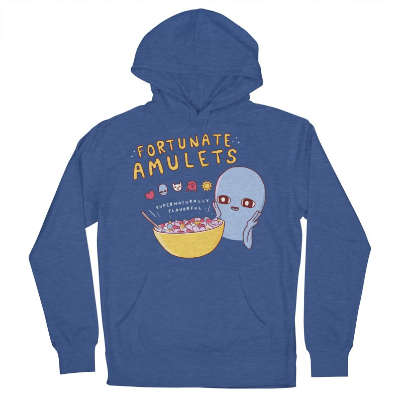 STRANGE PLANET SPECIAL PRODUCT: FORTUNATE AMULETS - GREEN Men's French Terry Pullover Hoody by Nathan W Pyle