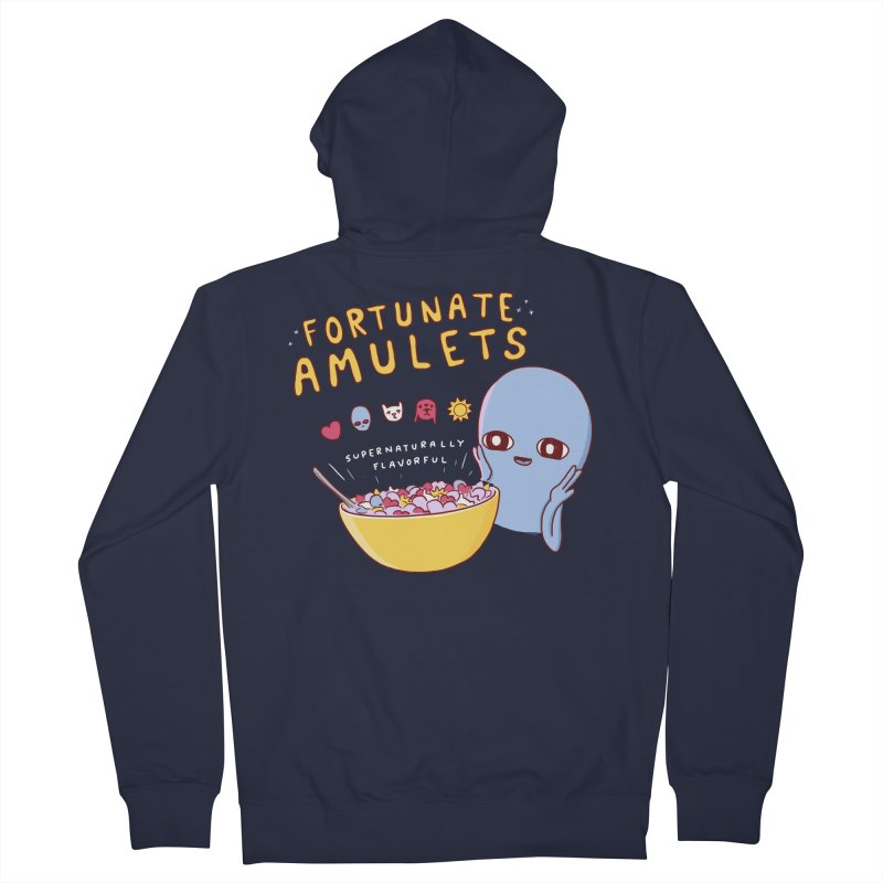 STRANGE PLANET SPECIAL PRODUCT: FORTUNATE AMULETS - GREEN Women's French Terry Zip-Up Hoody by Nathan W Pyle