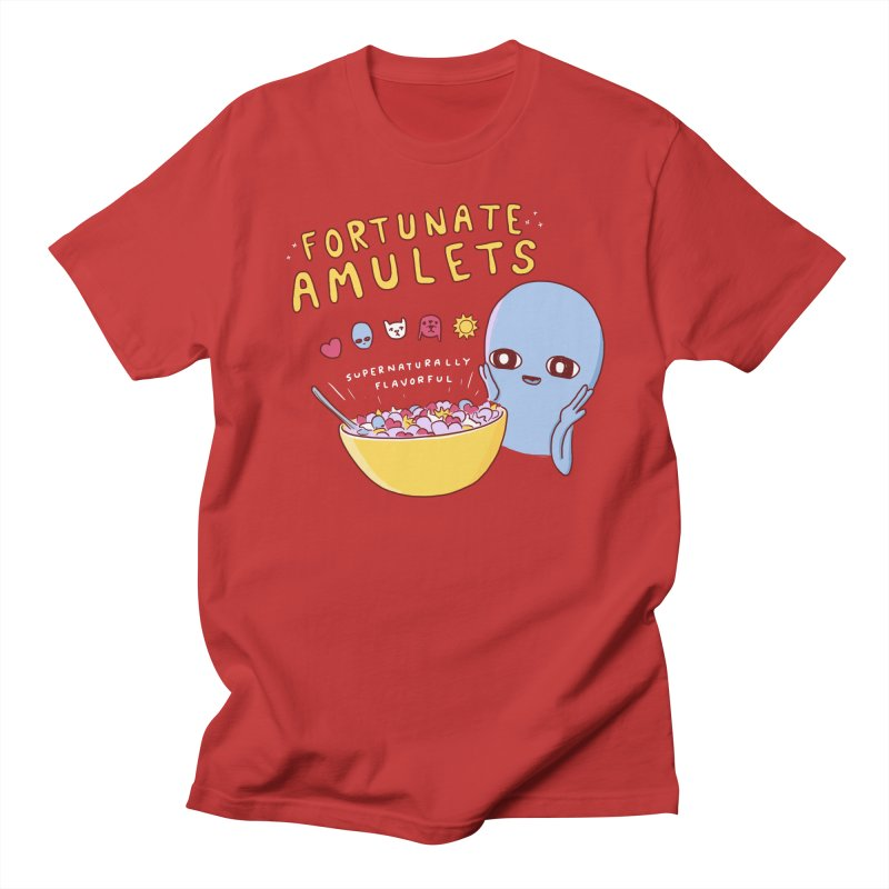 STRANGE PLANET SPECIAL PRODUCT: FORTUNATE AMULETS - GREEN Men's Regular T-Shirt by Nathan W Pyle