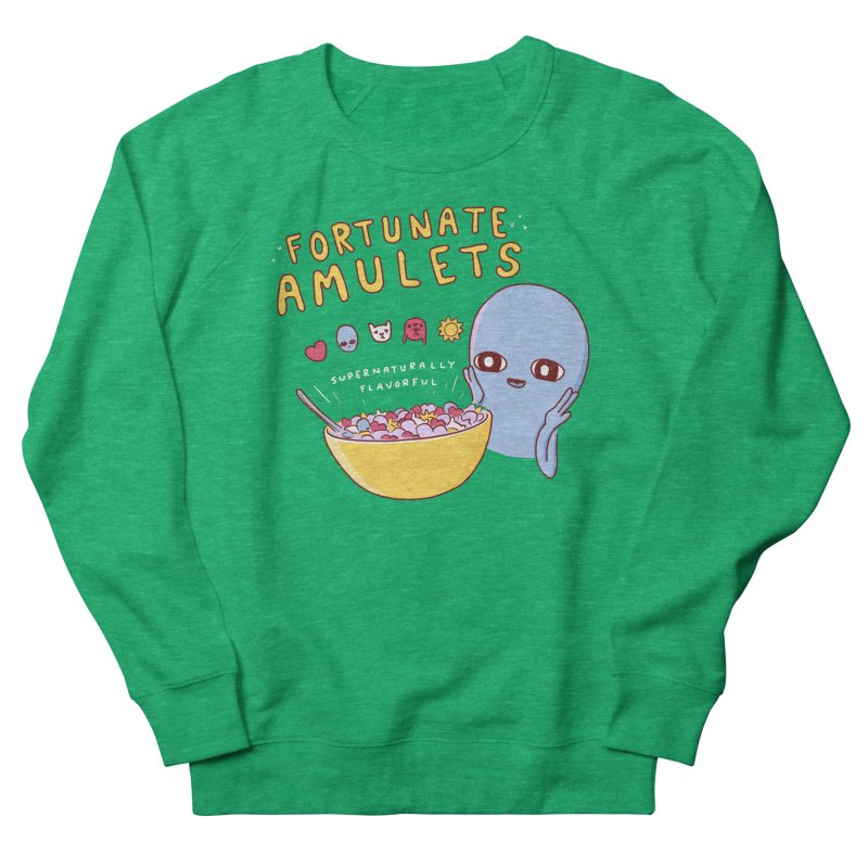 STRANGE PLANET SPECIAL PRODUCT: FORTUNATE AMULETS - GREEN Men's French Terry Sweatshirt by Nathan W Pyle