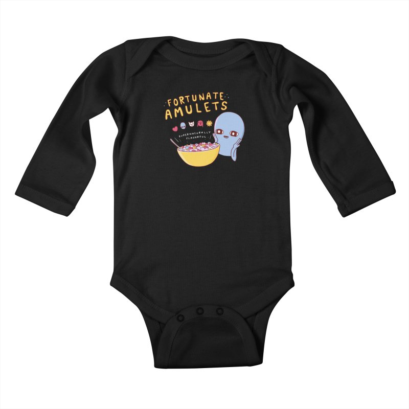 STRANGE PLANET SPECIAL PRODUCT: FORTUNATE AMULETS - GREEN Kids Baby Longsleeve Bodysuit by Nathan W Pyle