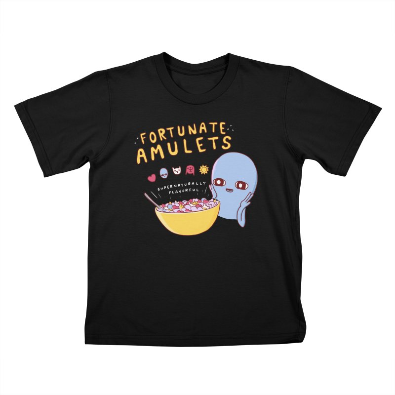 STRANGE PLANET SPECIAL PRODUCT: FORTUNATE AMULETS - GREEN Kids T-Shirt by Nathan W Pyle