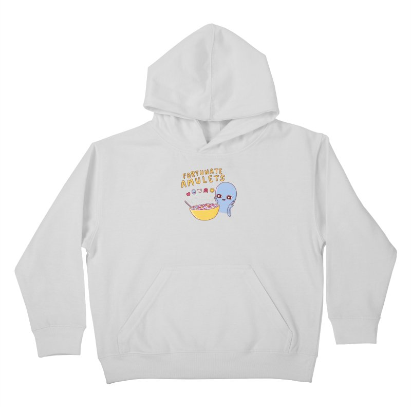 STRANGE PLANET SPECIAL PRODUCT: FORTUNATE AMULETS - GREEN Kids Pullover Hoody by Nathan W Pyle