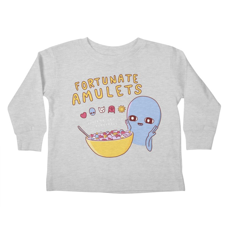 STRANGE PLANET SPECIAL PRODUCT: FORTUNATE AMULETS - GREEN Kids Toddler Longsleeve T-Shirt by Nathan W Pyle