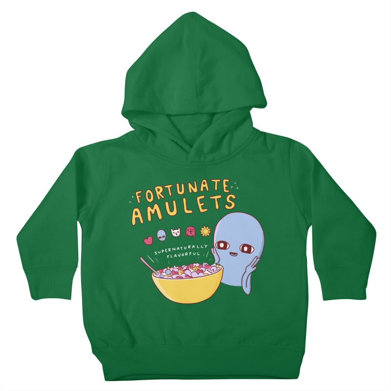 STRANGE PLANET SPECIAL PRODUCT: FORTUNATE AMULETS - GREEN Kids Toddler Pullover Hoody by Nathan W Pyle