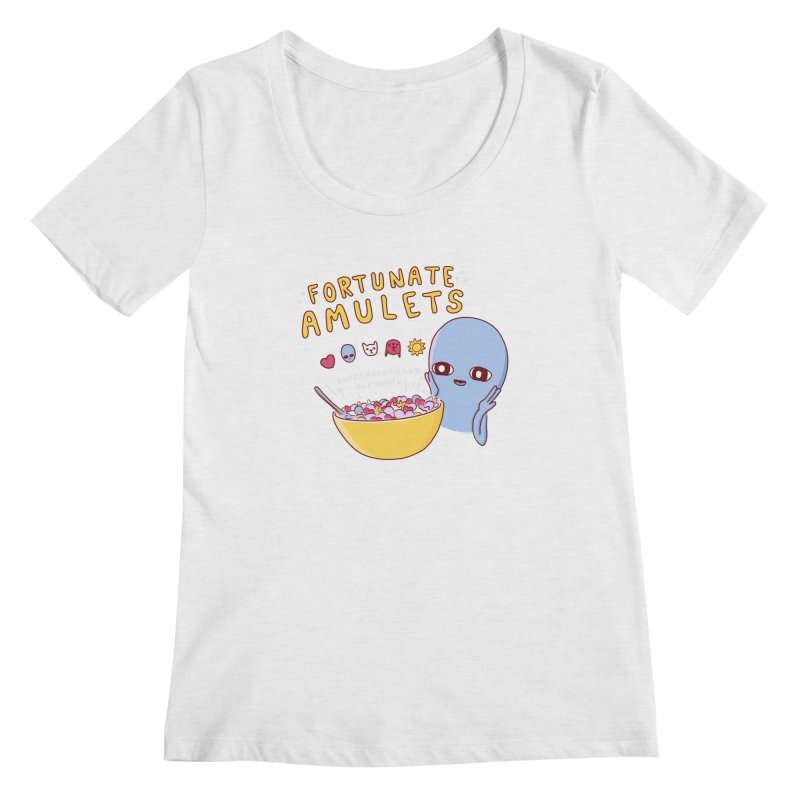 STRANGE PLANET SPECIAL PRODUCT: FORTUNATE AMULETS - GREEN Women's Regular Scoop Neck by Nathan W Pyle
