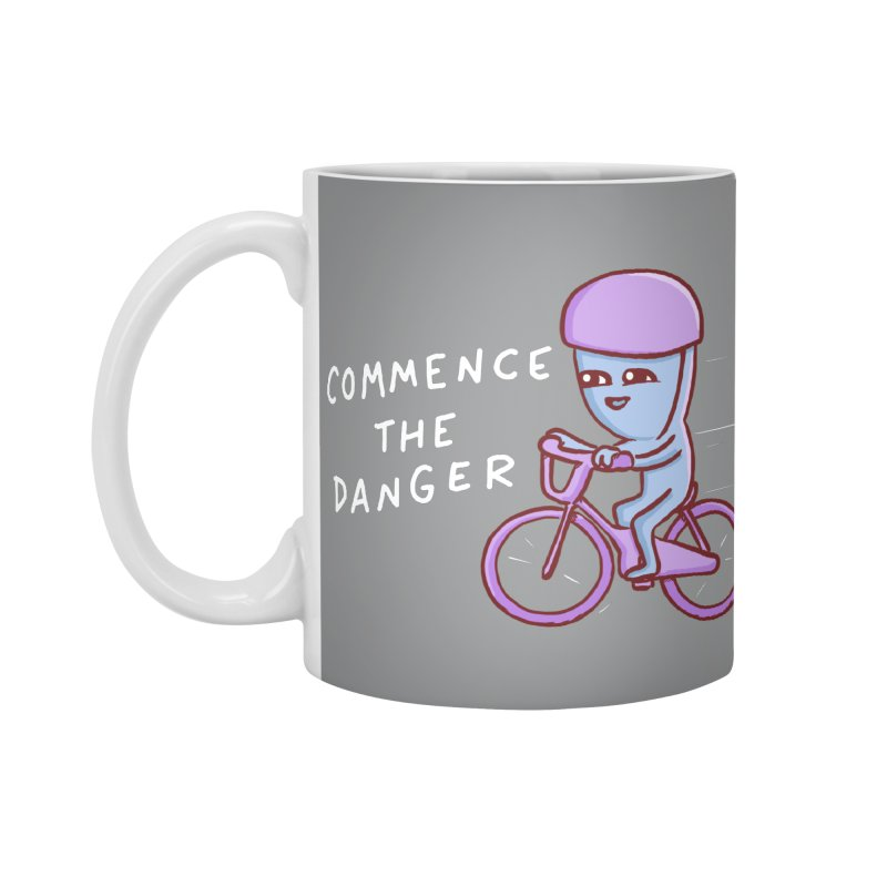 STRANGE PLANET SPECIAL PRODUCT: COMMENCE THE DANGER Accessories Standard Mug by Nathan W Pyle