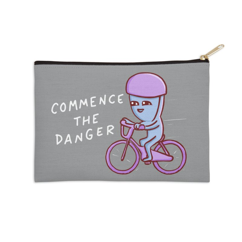 STRANGE PLANET SPECIAL PRODUCT: COMMENCE THE DANGER Accessories Zip Pouch by Nathan W Pyle