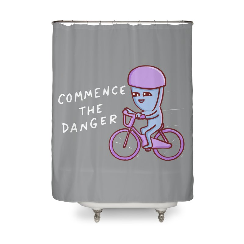 STRANGE PLANET SPECIAL PRODUCT: COMMENCE THE DANGER Home Shower Curtain by Nathan W Pyle