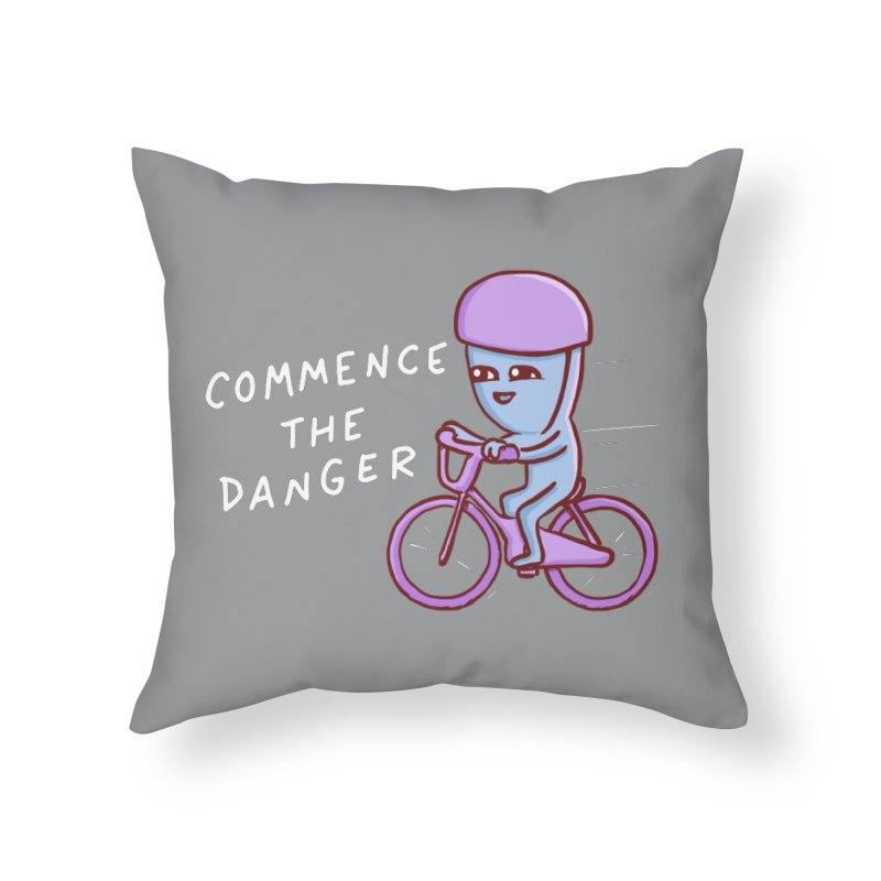 STRANGE PLANET SPECIAL PRODUCT: COMMENCE THE DANGER Home Throw Pillow by Nathan W Pyle