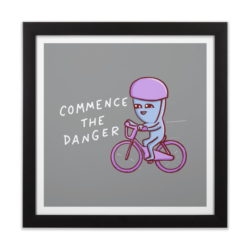 STRANGE PLANET SPECIAL PRODUCT: COMMENCE THE DANGER Home Framed Fine Art Print by Nathan W Pyle