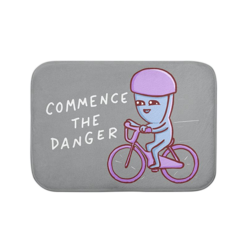 STRANGE PLANET SPECIAL PRODUCT: COMMENCE THE DANGER Home Bath Mat by Nathan W Pyle