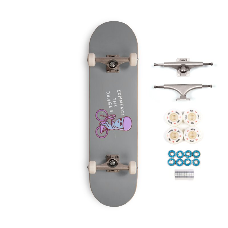 STRANGE PLANET SPECIAL PRODUCT: COMMENCE THE DANGER Accessories Complete - Premium Skateboard by Nathan W Pyle