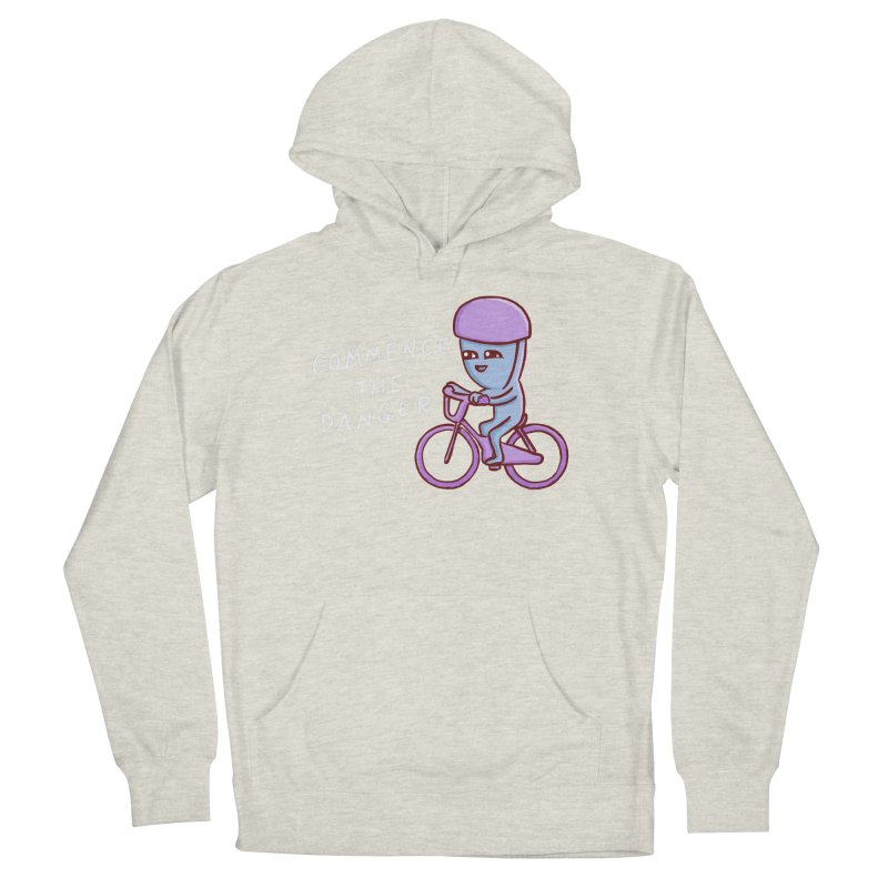 STRANGE PLANET SPECIAL PRODUCT: COMMENCE THE DANGER Men's French Terry Pullover Hoody by Nathan W Pyle