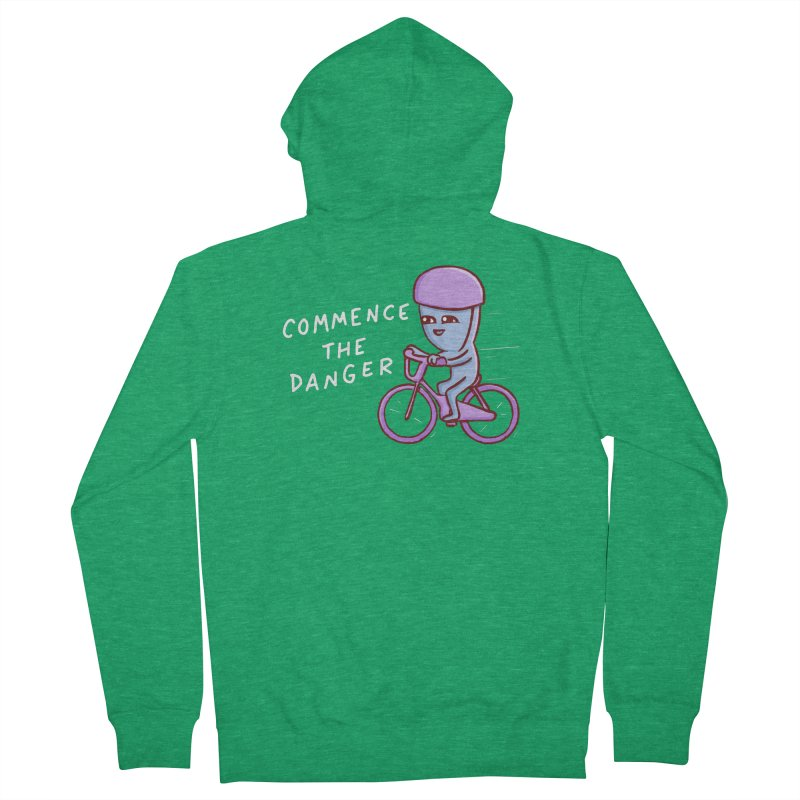 STRANGE PLANET SPECIAL PRODUCT: COMMENCE THE DANGER Women's French Terry Zip-Up Hoody by Nathan W Pyle