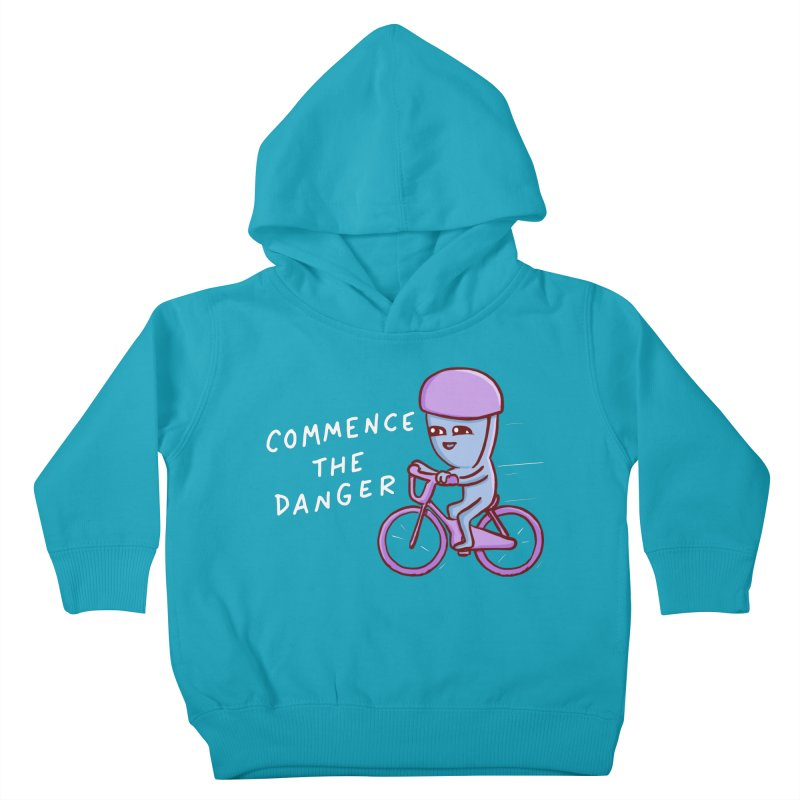 STRANGE PLANET SPECIAL PRODUCT: COMMENCE THE DANGER Kids Toddler Pullover Hoody by Nathan W Pyle