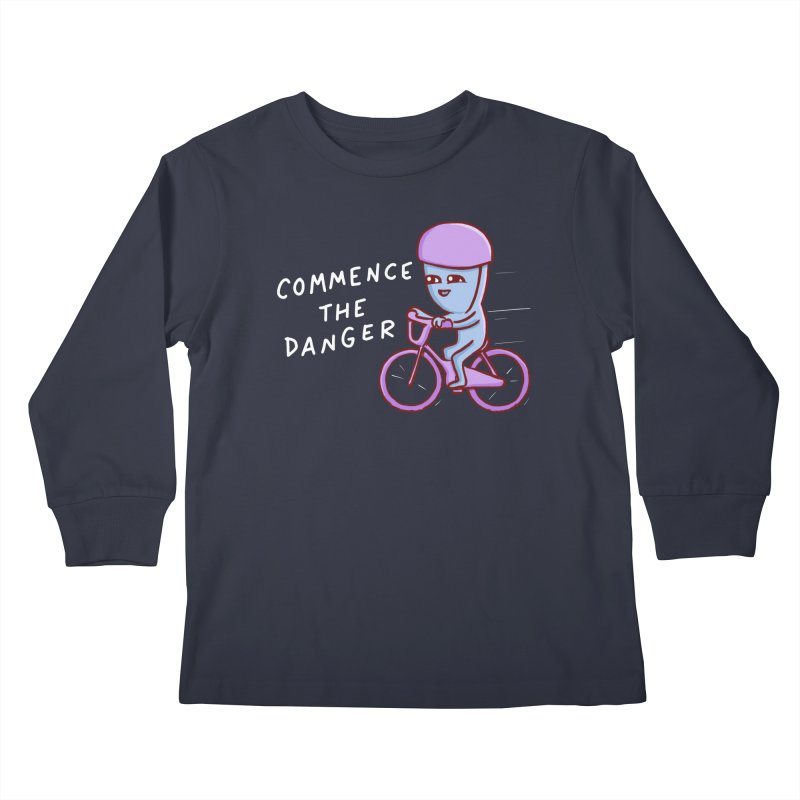 STRANGE PLANET SPECIAL PRODUCT: COMMENCE THE DANGER Kids Longsleeve T-Shirt by Nathan W Pyle