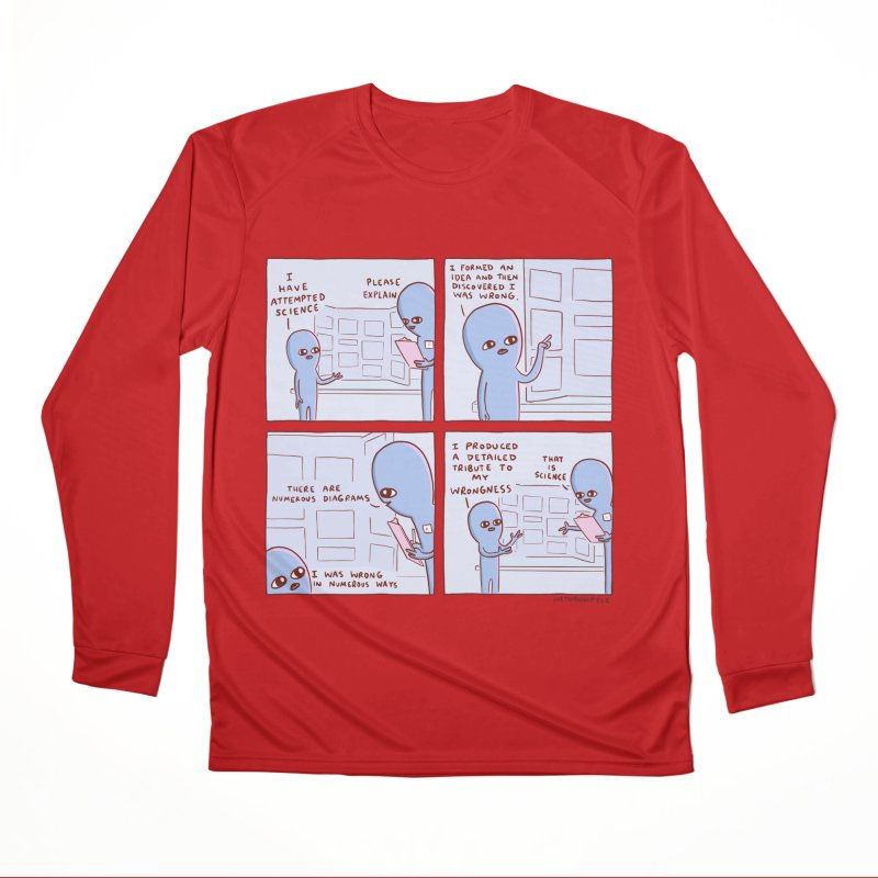 STRANGE PLANET: I HAVE ATTEMPTED SCIENCE Men's Performance Longsleeve T-Shirt by Nathan W Pyle
