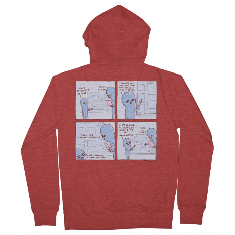 STRANGE PLANET: I HAVE ATTEMPTED SCIENCE Women's French Terry Zip-Up Hoody by Nathan W Pyle