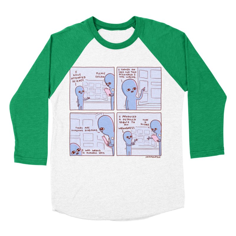 STRANGE PLANET: I HAVE ATTEMPTED SCIENCE Women's Baseball Triblend Longsleeve T-Shirt by Nathan W Pyle