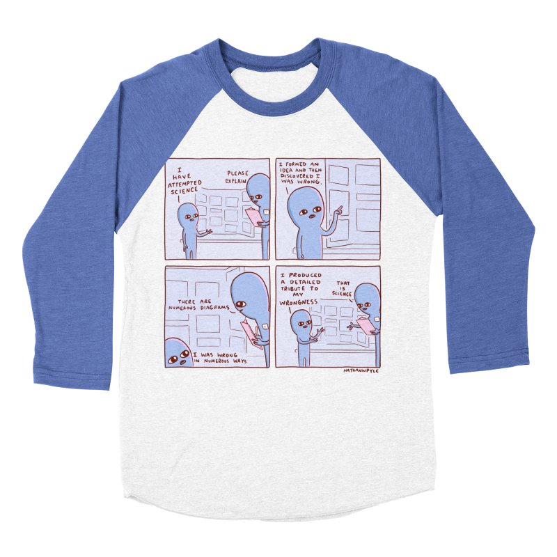 STRANGE PLANET: I HAVE ATTEMPTED SCIENCE Men's Baseball Triblend Longsleeve T-Shirt by Nathan W Pyle
