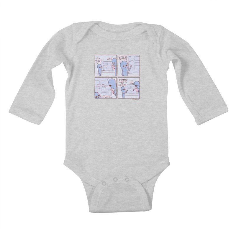 STRANGE PLANET: I HAVE ATTEMPTED SCIENCE Kids Baby Longsleeve Bodysuit by Nathan W Pyle