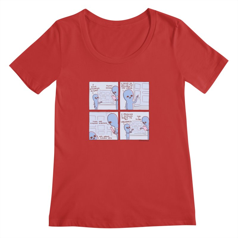 STRANGE PLANET: I HAVE ATTEMPTED SCIENCE Women's Regular Scoop Neck by Nathan W Pyle