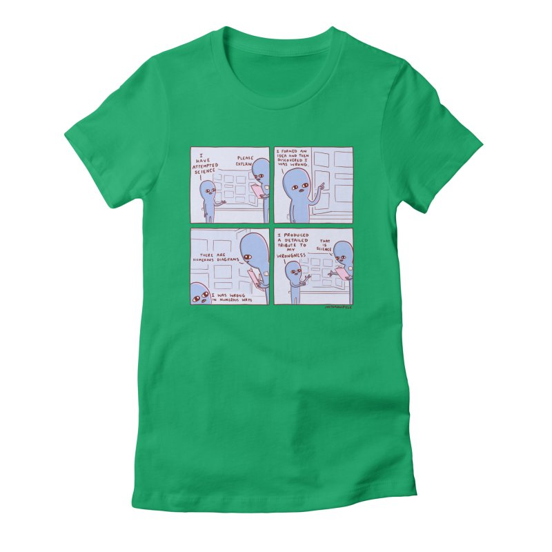 STRANGE PLANET: I HAVE ATTEMPTED SCIENCE Women's Fitted T-Shirt by Nathan W Pyle