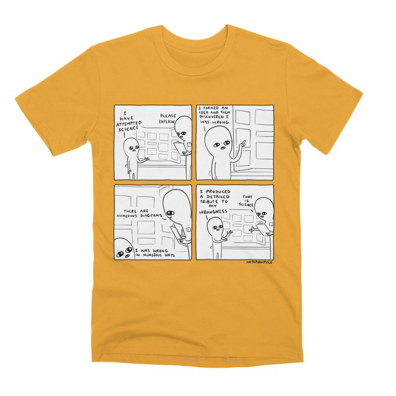 STRANGE PLANET BLACK AND WHITE: I HAVE ATTEMPTED SCIENCE Men's Premium T-Shirt by Nathan W Pyle