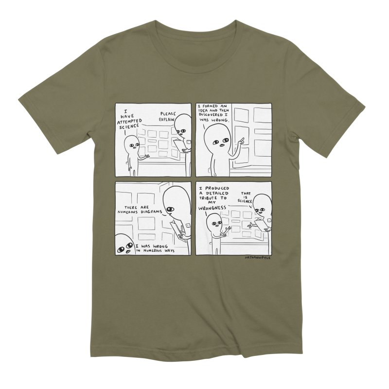 STRANGE PLANET BLACK AND WHITE: I HAVE ATTEMPTED SCIENCE Men's Extra Soft T-Shirt by Nathan W Pyle