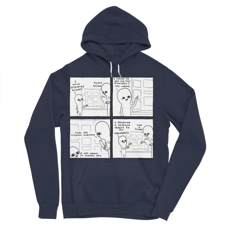 STRANGE PLANET BLACK AND WHITE: I HAVE ATTEMPTED SCIENCE Men's Sponge Fleece Pullover Hoody by Nathan W Pyle