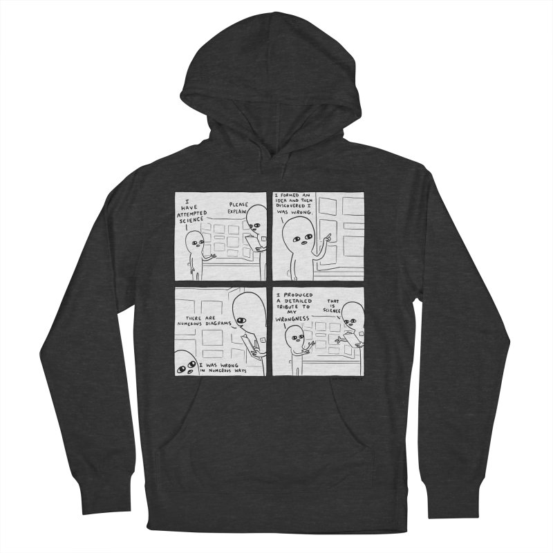 STRANGE PLANET BLACK AND WHITE: I HAVE ATTEMPTED SCIENCE Women's French Terry Pullover Hoody by Nathan W Pyle