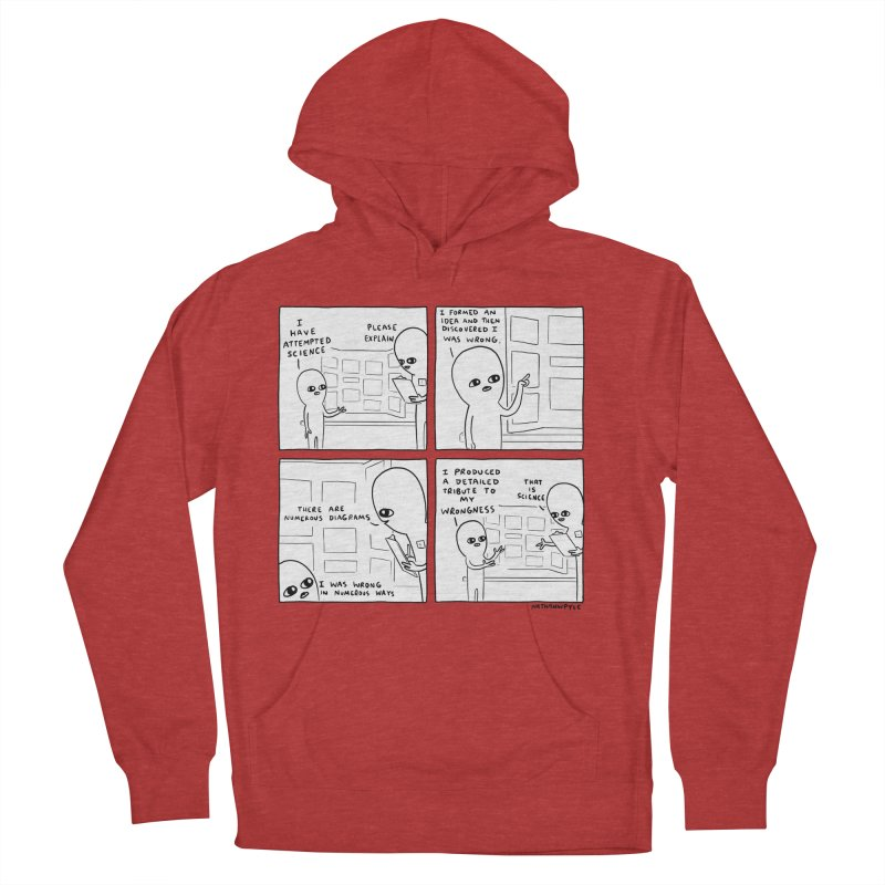 STRANGE PLANET BLACK AND WHITE: I HAVE ATTEMPTED SCIENCE Men's French Terry Pullover Hoody by Nathan W Pyle