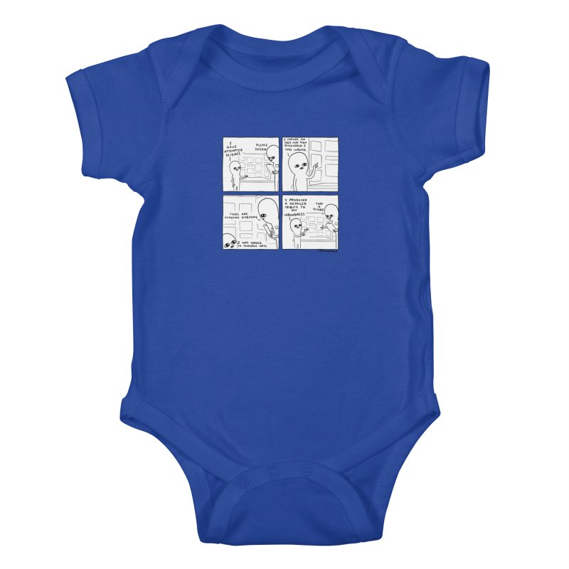 STRANGE PLANET BLACK AND WHITE: I HAVE ATTEMPTED SCIENCE Kids Baby Bodysuit by Nathan W Pyle